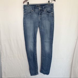 Silver Jeans / Suki Skinny Jeans 29x33 / Mid-Rise